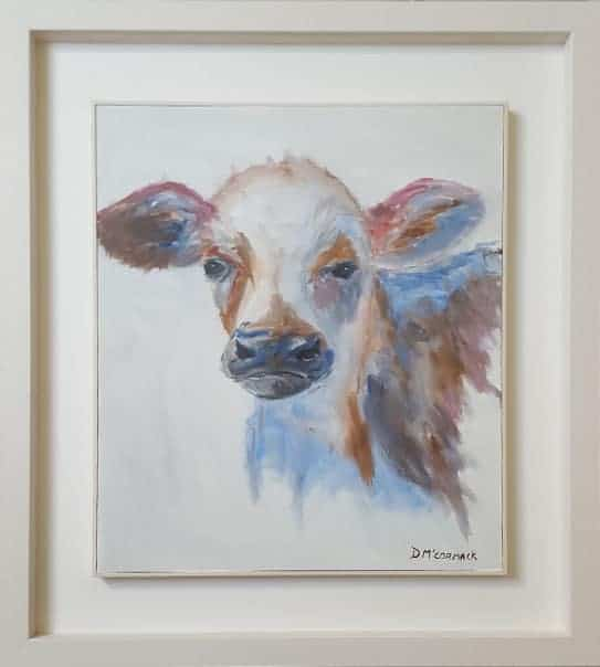 Painting Of Charolais Calf
