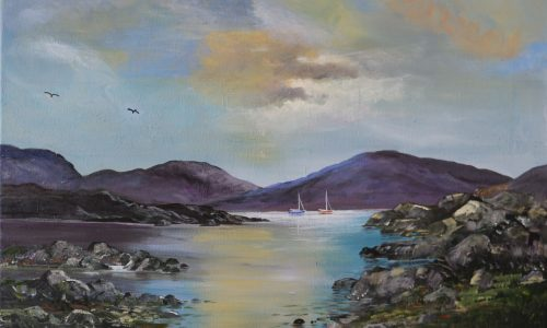 Painting for sale of Sunset in Connemara