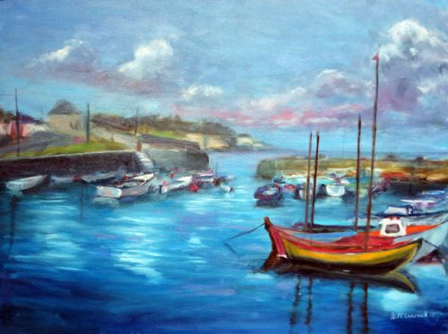 Bullock Harbour Dalkey Co.Dublin-Original Landscape Painting