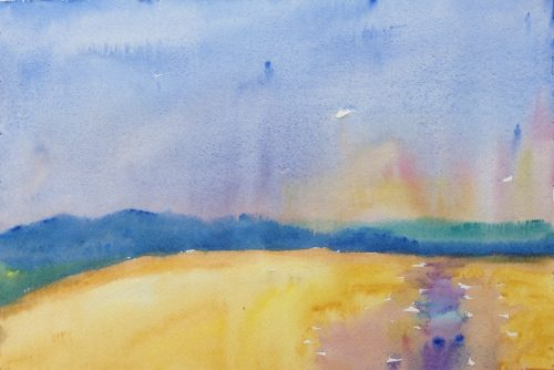 landscape painting Mount Leinster