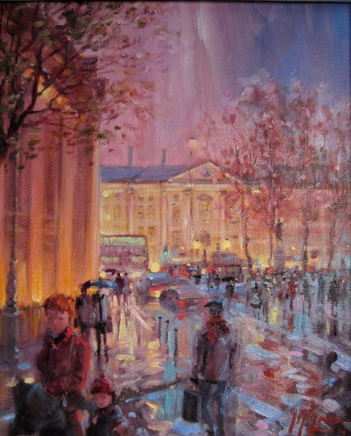 Evening Rain - College Green, County Dublin