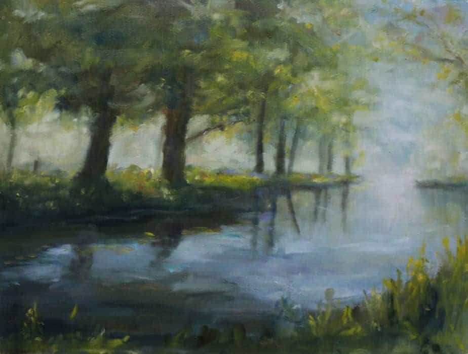 Along the river boyne original landscape oil painting for Oil paintings for the home