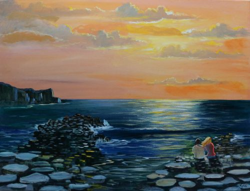 Giant's Causeway County Antrim-Original Landscape Painting-
