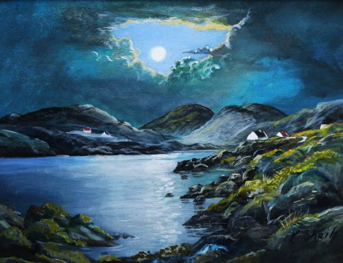 Moonlight Mayo Original Seascape Painting