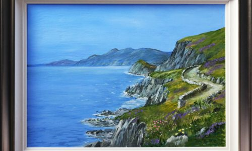 Painting for sale of Slea Head Dingle Peninsula County Kerry by Irish artist Kathleen Sheils