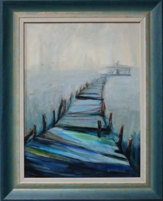 Impressionist abstract oil painting