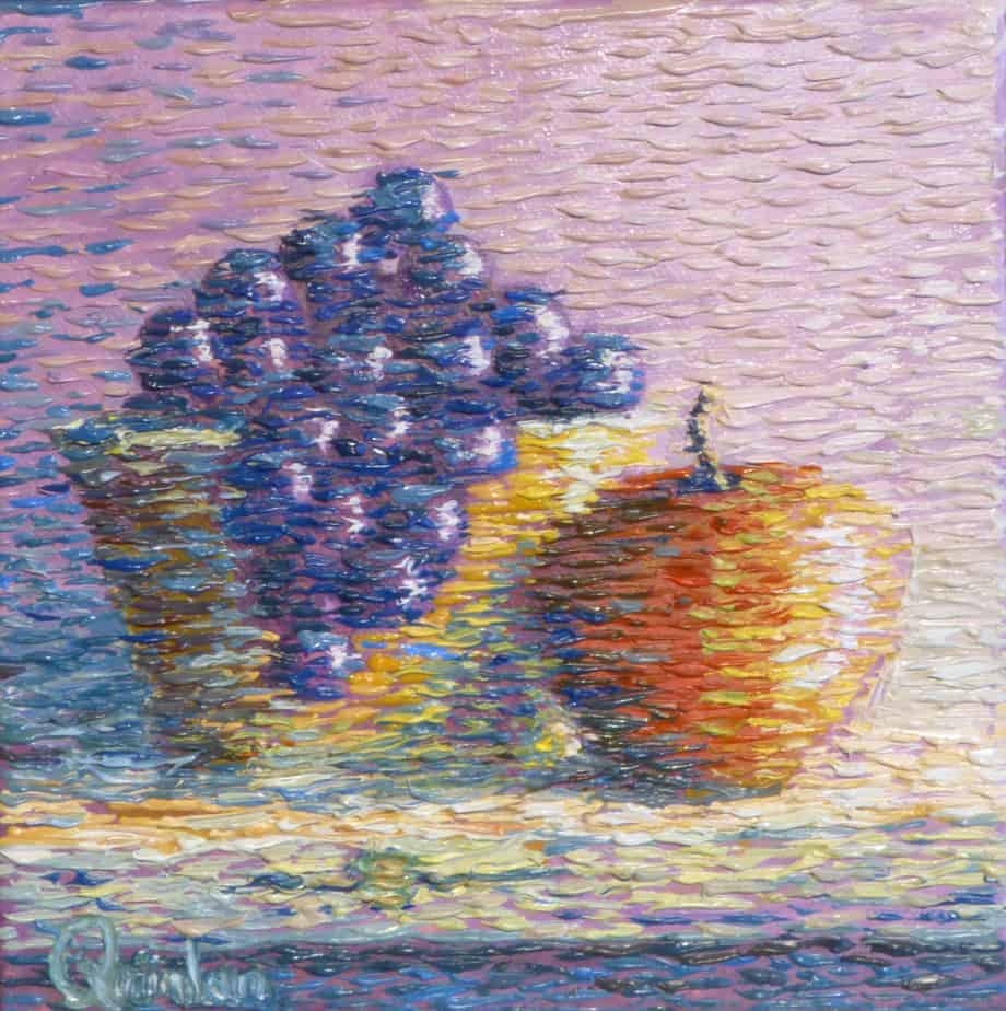 still life fruit and bowl impressionistic still life by irish