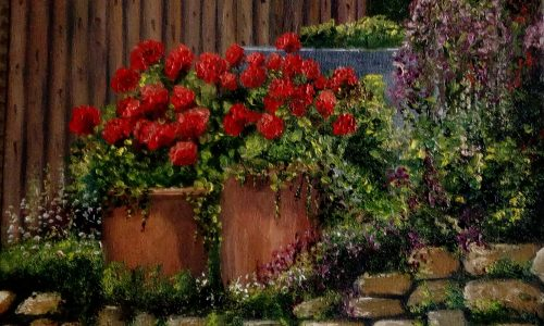 Painting of Geraniums