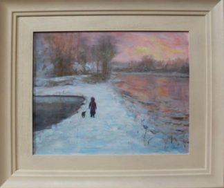 Oil Painting Winter's Eve