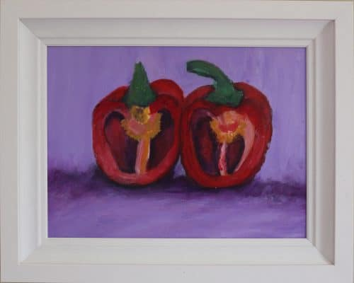 Cut Peppers- Still Life Painting