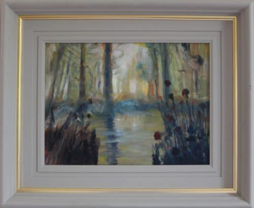 Enchanted Pond-Landscape Oil Painting