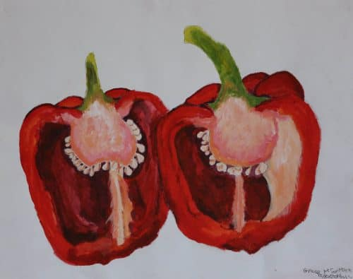 Inside Pepper- Acrylic Still life Painting