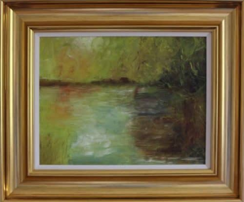 Lakeside -Abstract Landscape Painting