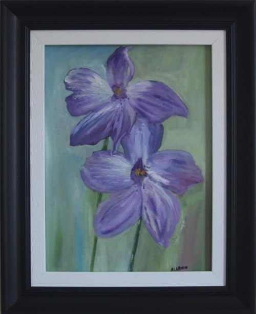 Orchid flower- Still Life Floral Oil Painting