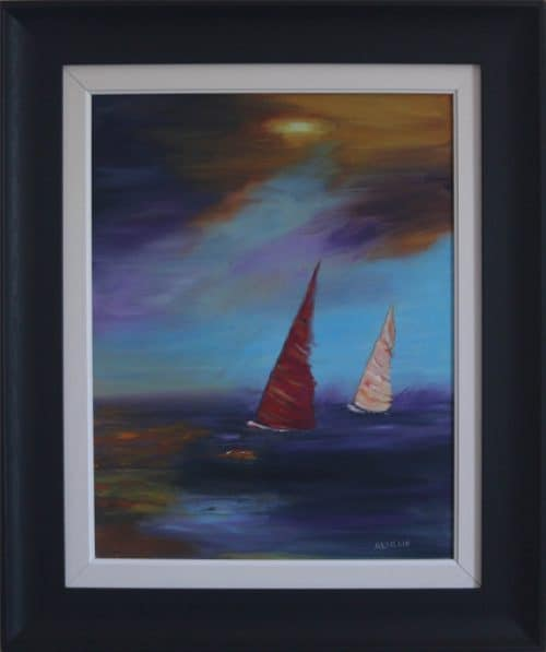 Sailing Boats- Seascape Oil Painting
