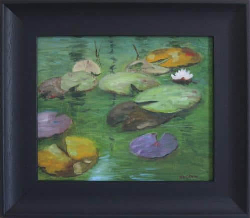 The lily Pond - Waterscape Oil Painting