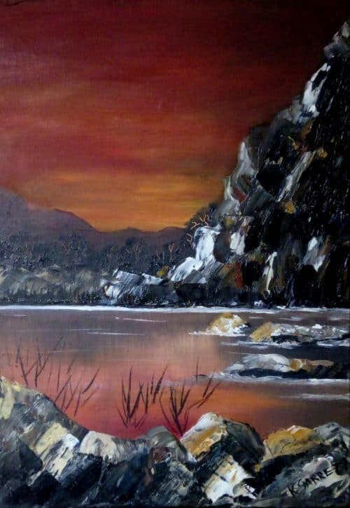 Painting of Cliffs