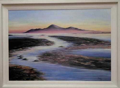 Sunrise on the Mournes Landscape and seascape painting