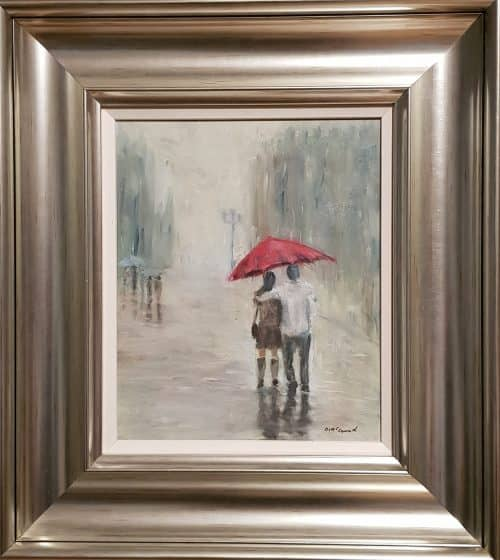 motivational painting rainy day for sale by irish artist david mccormack