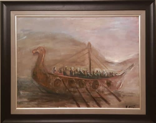 Viking Long Boat (series of 3)