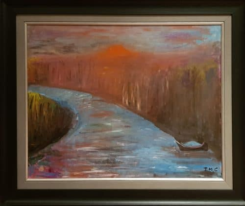 painting of the River boyne at Slane