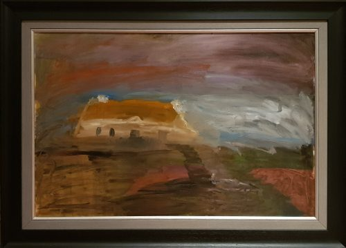 Painting of a Thatched Cottage at West of Ireland