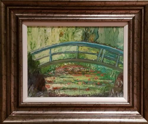 Painting of lily pond