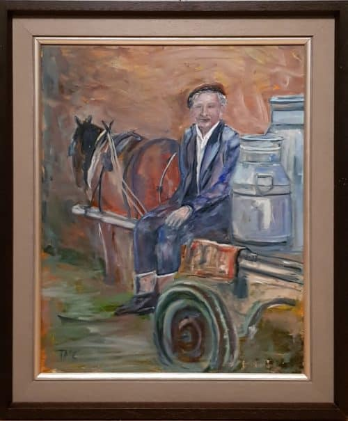 Painting of a Milk Cart West of Ireland