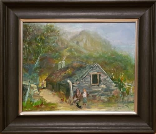 Painting of Irish Cottage in Wicklow