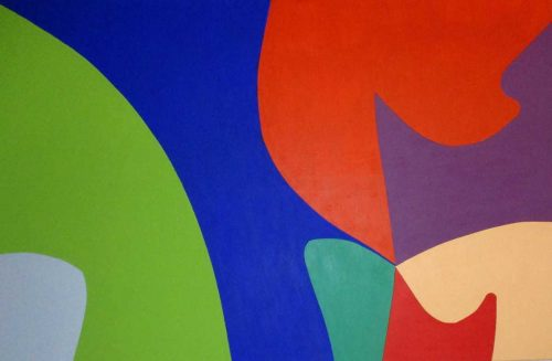 ARCO IRIS abstract painting