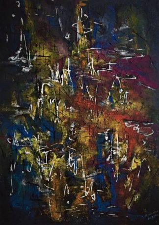 abstract painting Night Sounds