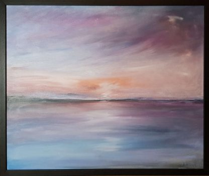 Serenity in the sea Contemporary Seascape painting for sale