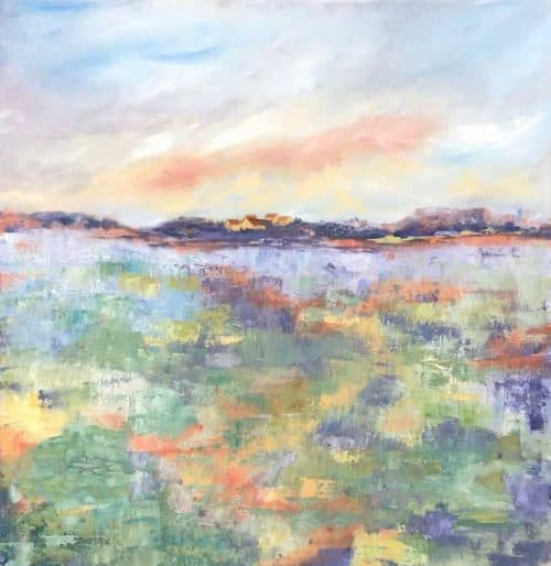 Tuscan Abstract Landscape Painting