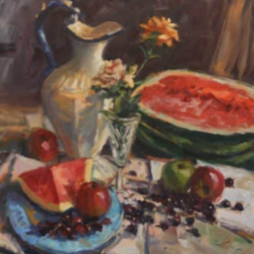 Still Life with Jug and Melons