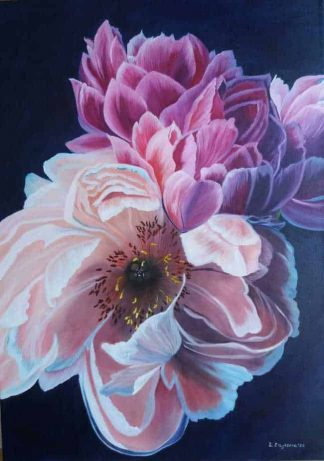 Bouquet of Spring Flower Still Life Painting of flowers