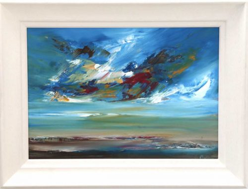 Coming Home Contemporary modern landscape oil painting.
