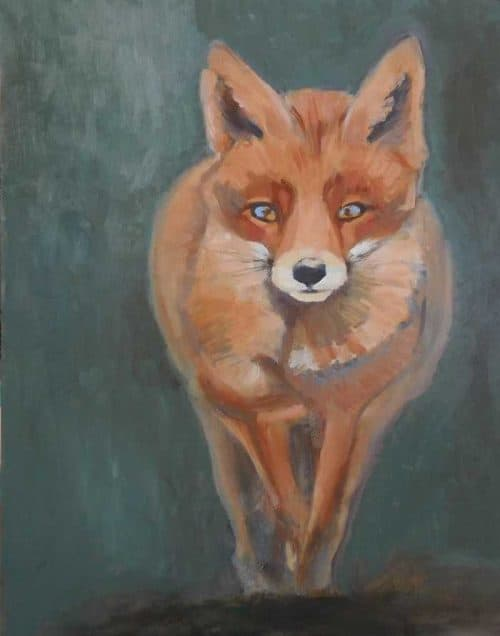 Fox animal painting for sale by Irish artist Dorothy Moorhead