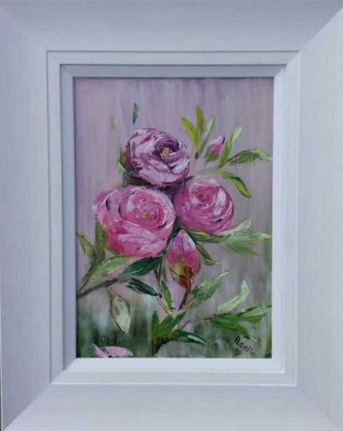 Roses in Abundance Still life painting of full blown roses