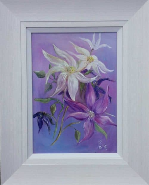 Clematis fantasy Still life floral painting