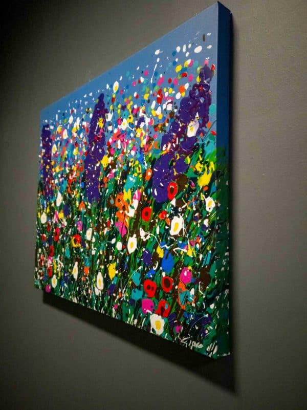 'Purple Haze' Original Abstract Floral Painting for sale