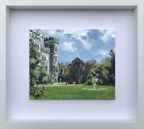 Johnstown Castle II Landscape painting of Johnstown castle in County Wexford