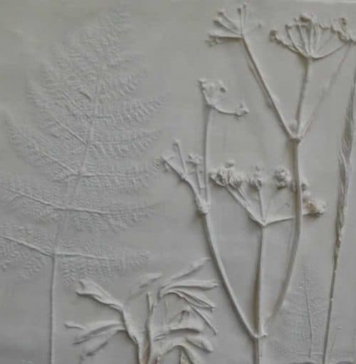 Plaster Number 4 Still life floral art moulded with plaster of paris