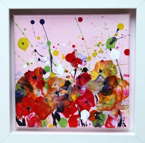 Medium: Acrylic on Canvas Size:25 x 25 cm (10 x 10 inches) Framed: In a white box frame Free Worldwide Shipping