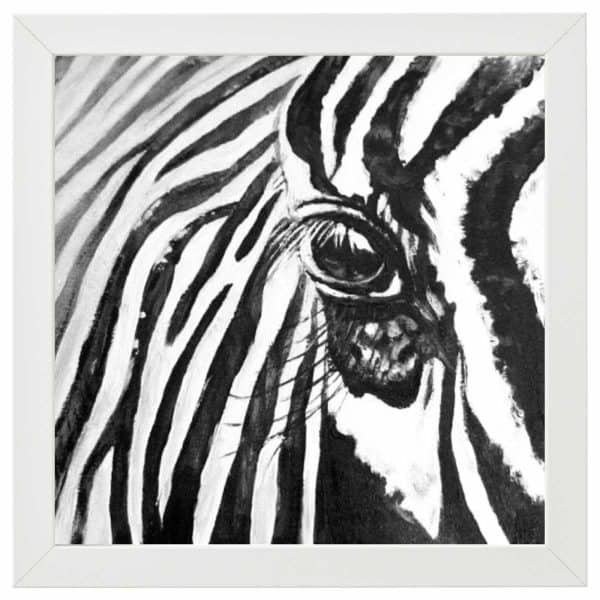 Zebra Series 2 Oil Paintings of animals native to Africa by artist Rosemarie Kamana.