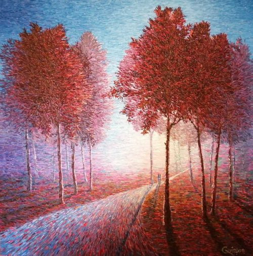 colourful impressionistic contemporary painting.