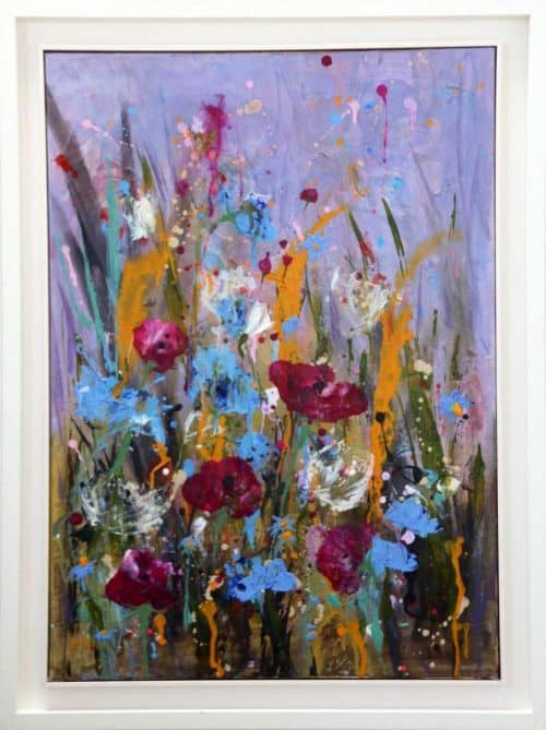 Abstract Floral Painting By artist Rine Philbin