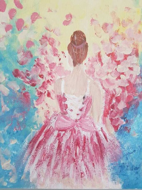Surrounded by Petals floral painting by artist Dorota Raczynska. Browse through our large selection of art for sale on Ireland's online art gallery