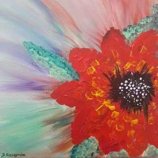 ALL ALONE floral painting by artist Dorota Raczynska. Browse our large selection of art for sale on Ireland's fastest growing art gallery