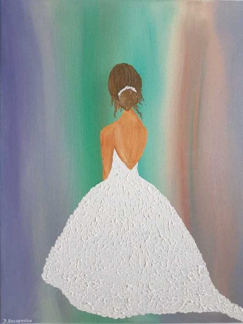 WALK ME DOWN THE AISLE Figurative painting