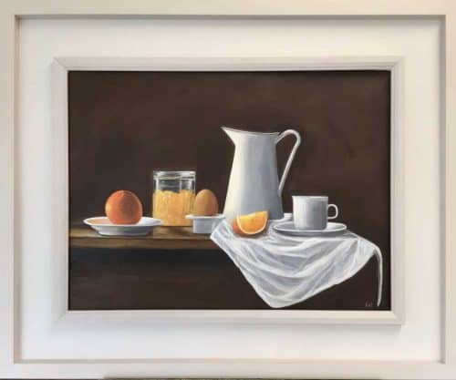Breakfast Time Still life painting by Irish artist Valerie Dennigan